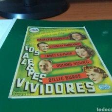 Cine: ANTIGUO PROGRAMA DE CINE GRANDE. LOS ALEGRES VIVIDORES. CINE MUNDIAL. 1945. Lote 272741083
