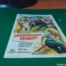 Cine: ANTIGUO PROGRAMA DE CINE. RINOCERONTES BLANCOS. CINE CAPITOL. TARRAGONA. Lote 272741318