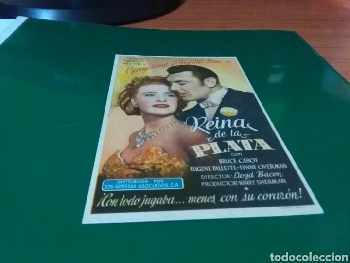 ANTIGUO PROGRAMA DE CINE REINA DE LA PLATA. CINE ESPAÑA DE LLAGOSTERA (Cine - Folletos de Mano - Comedia)