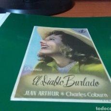 Cine: ANTIGUO PROGRAMA DE CINE EL DIABLO BURLADO. CINEMA LA RAMBLA DE BARCELONA. Lote 272747103