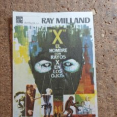 Folhetos de mão de filmes antigos de cinema: FOLLETO DE MANO DE LA PELÍCULA EL HOMBRE CON RAYOS X EN LOS HOJOS. Lote 273156618