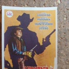 Flyers Publicitaires de films Anciens: FOLLETO DE MANO DE LA PELÍCULA LA VENGANZA DE CLARK HARRISON. Lote 273160083