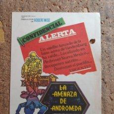 Cine: FOLLETO DE MANO DE LA PELÍCULA LA AMENAZA DE ANDROMEDA. Lote 273264658