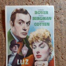 Foglietti di film di film antichi di cinema: FOLLETO DE MANO DE LA PELÍCULA LUZ QUE AGONIZA. Lote 273326523