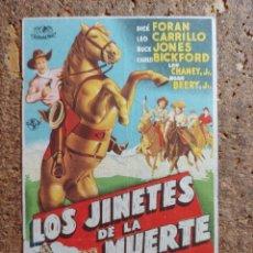 Flyers Publicitaires de films Anciens: FOLLETO DE MANO DE LA PELÍCULA LOS JINETES DE LA MUERTE. Lote 273326668