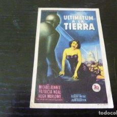 Folhetos de mão de filmes antigos de cinema: PROGRAMA DE CINE IMPRESO EN LA PARTE TRASERA. Lote 273333303