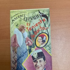 "Folhetos de mão de filmes antigos de cinema: FOLLETO DE CINE ANTIGUO ""EL TENIENTE SEDUCTOR"". PARAMOUNT. TRÍPTICO.MAURICE CHEVALIER.. Lote 273929908"