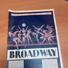 """Folhetos de mão de filmes antigos de cinema: (PIEZA RARA) FOLLETO DE CINE """"BROADWAY"""" CON 8 PÁGINAS CON GLENN TYRON & MERNA KENNEDY 1929. Lote 274209198"""