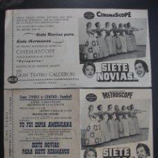 Flyers Publicitaires de films Anciens: SIETE NOVIAS PARA SIETE HERMANOS, JANE POWELL, VARIANTE. Lote 274530228