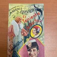 """Folhetos de mão de filmes antigos de cinema: FOLLETO DE CINE ANTIGUO """"EL TENIENTE SEDUCTOR"""" MAURICE CHEVALIER. PARAMOUNT PICTURES. AÑOS 30.. Lote 274539453"""