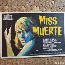 Cine: FOLLETO DE MANO DE LA PELÍCULA MISS MUERTE. Lote 274598063