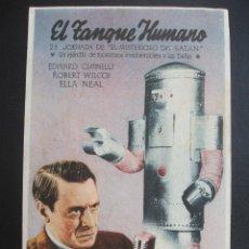 Folhetos de mão de filmes antigos de cinema: EL TANQUE HUMANO, EL MISTERIOSO DR. SATAN, CINE SAN VICENTE C. Lote 274660483