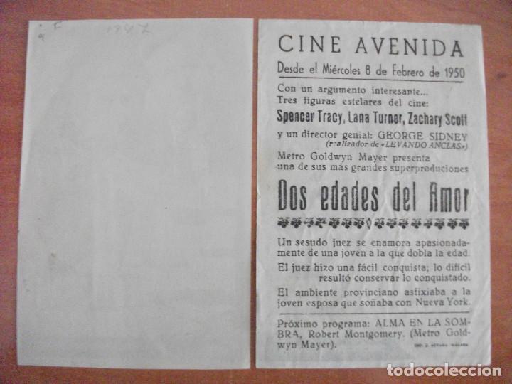 Cine: EL ETERNO CONFLICTO, DOS EDADES DEL AMOR, SPENCER TRACY, LANA TURNER, VARIANTE - Foto 2 - 50255982