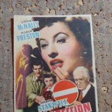 Folhetos de mão de filmes antigos de cinema: FOLLETO DE MANO DE LA PELÍCULA DIRECCION PROHIBIDA. Lote 274681558