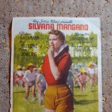 Folhetos de mão de filmes antigos de cinema: FOLLETO DE MANO DE LA PELÍCULA ARROZ AMARGO CON PUBLICIDAD. Lote 274759788