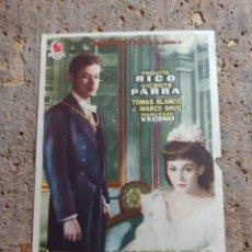 Folhetos de mão de filmes antigos de cinema: FOLLETO DE MANO DE LA PELÍCULA ¿ DONDE VAS ALFONSO XII ? CON PUBLICIDAD. Lote 274769448
