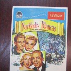 Foglietti di film di film antichi di cinema: NAVIDADES BLANCAS - FOLLETO MANO ORIGINAL - BING CROSBY VERA ELLEN MICHAEL CURTIZ - IMPRESO. Lote 274880213