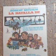Cine: FOLLETO DE MANO DE LA PELICULA LA BATALLA DE ANCIO. Lote 274896998