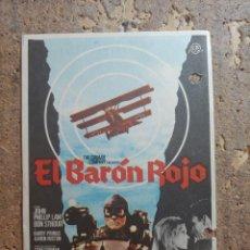 Cine: FOLLETO DE MANO DE LA PELICULA EL BARON ROJO. Lote 274898038