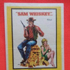 Foglietti di film di film antichi di cinema: SAM WHISKEY, SENCILLO, BURT REYNOLS, C/PUBLI CINE IBERIA SAN FELIU DE LLOBREGAT 1970. Lote 274901813
