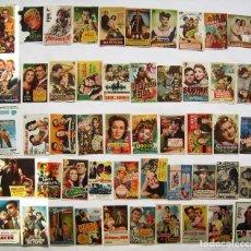Folhetos de mão de filmes antigos de cinema: 50 PROGRAMAS SURTIDOS. LOTE Nº S-89 (31 CON IMPRESIÓN EN EL REVERSO).. Lote 274906883
