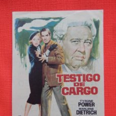 Flyers Publicitaires de films Anciens: TEATIGO DE CARGO, IMPECABLE SENCILLO, MARLENE DIETRICH, C/PUBLI C. VERSALLES PALACE 1971. Lote 274907828
