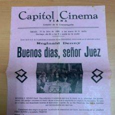 "Folhetos de mão de filmes antigos de cinema: FOLLETO DE CINE ANTIGUO ""BUENOS DÍAS, SEÑOR JUEZ"". 1930. UNIVERSAL. PROGRAMA LOCAL.CARTEL.. Lote 275030103"