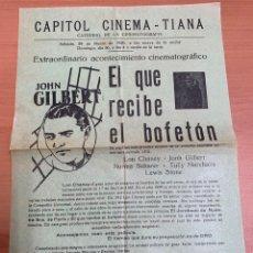 """Folhetos de mão de filmes antigos de cinema: FOLLETO DE CINE ANTIGUO """"EL QUE RECIBE EL BOFETÓN"""". 1930. PROGRAMA LOCAL. CARTEL.. Lote 275044443"""
