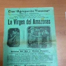 """Folhetos de mão de filmes antigos de cinema: FOLLETO DE CINE ANTIGUO """"LA VIRGEN DEL AMAZONAS"""". DOLORES DEL RÍO. PROGRAMA LOCAL. CARTEL.. Lote 275071488"""
