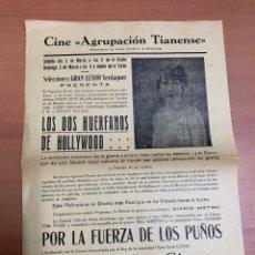 """Folhetos de mão de filmes antigos de cinema: FOLLETO DE CINE ANTIGUO """"LOS DOS HUÉRFANOS DE HOLLYWOOD"""". AÑOS 20'S. PROGRAMA LOCAL.. Lote 275093398"""