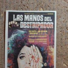 Folhetos de mão de filmes antigos de cinema: FOLLETO DE MANO DE LA PELICULA LAS MANOS DEL DESTRIPADOR. Lote 275105328