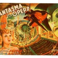 Folhetos de mão de filmes antigos de cinema: EL FANTASMA DE LA ÓPERA, CON SUSANNA FOSTER.. Lote 275128938