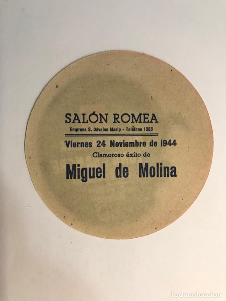 Cine: MIGUEL DE MOLINA en LUNA DE SANGRE. Folleto de mano. Cines ROMEA, Castellón (a.1944) - Foto 2 - 275140588