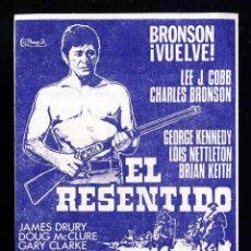 Cine: PROGRAMA DE CINE LOCAL (EL MASNOU): EL RESENTIDO CON CHARLES BRONSON. CON PUBLICIDAD EN EL DORSO. Lote 275217168