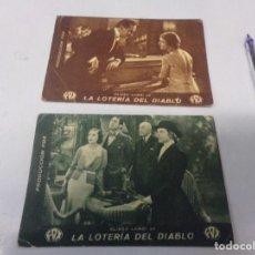 Cine: DOS FOLLETOS DE MANO LA LOTERIA DEL DIABLO CON PUBLICIDAD. Lote 275451683