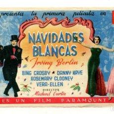 Folhetos de mão de filmes antigos de cinema: NAVIDADES BLANCAS, CON BING CROSBY.. Lote 275579503