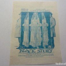 Folhetos de mão de filmes antigos de cinema: PROGRAMA DE CINE LOCAL. BLAK STORY 1972. Lote 275626403