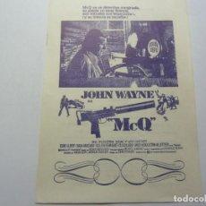 Folhetos de mão de filmes antigos de cinema: PROGRAMA DE CINE LOCAL. MCQ 1975. Lote 275627568