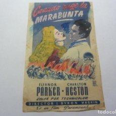 Folhetos de mão de filmes antigos de cinema: PROGRAMA DE CINE LOCAL. CUANDO RUGE LA MARABUNTA. Lote 275630038