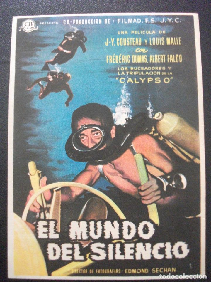 EL MUNDO DEL SILENCIO, COUSTEAU, SIN TECNICOLOR (Cine - Folletos de Mano - Documentales)