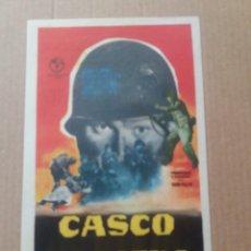 Cine: CASCO DE ACERO CON PUBLICIDAD TEATRO FLETA ZARAGOZA. Lote 275743388