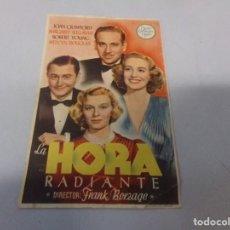 Cine: FOLLETO DE MANO LA HORA RADIANTE JOAN CRAWFORD 1946. Lote 275920113