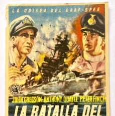 Cine: FOLLETO CINE - LA BATALLA DEL RIO DE LA PLATA - CINE FEMINA TARRAGONA. Lote 275933203