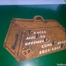 Flyers Publicitaires de films Anciens: ANTIGUO PROGRAMA DE CINE TROQUELADO. GROCK. AÑOS 30. Lote 276023338
