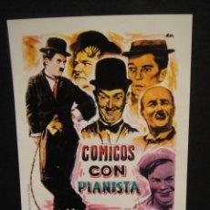 Folhetos de mão de filmes antigos de cinema: COMICOS CON PIANISTA CINE ELISEOS - ZARAGOZA. Lote 276056498