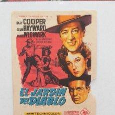 Cine: PROGRAMA DE CINE EL JARDIN DEL DIABLO(AZUL). Lote 276124478
