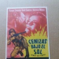 Cine: CENIZAS BAJO EL SOL CON SELLO. Lote 276127588
