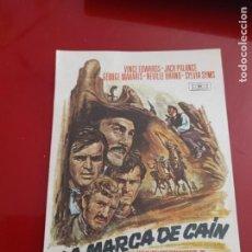 Cine: FOLLETO DE MANO LA MARCA DE CAIN , VINCE EDWARDS , 1971. Lote 276179283
