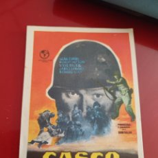 Cine: FOLLETO DE MANO CASCO DE ACERO , GENE EVANS , 1959. Lote 276179863