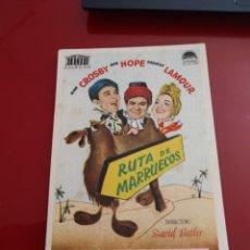 Cine: FOLLETO DE MANO RUTA DE MARRUECOS , BING CROSBY ,1946. Lote 276183108